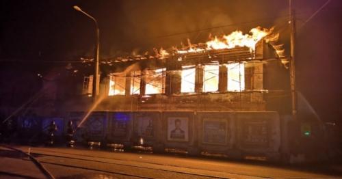 Не исключена версия поджога. В Челябинске объекту культурного наследия нанесен урон