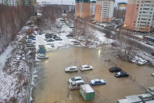 Ночью пошла вода. Сегодня ночью затопило микрорайон Парковый