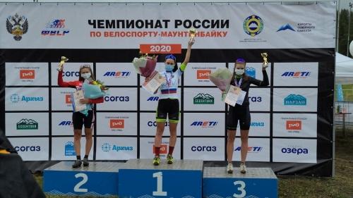 Титул подтверждён. Копейская велогонщица Эльвира Хайруллина стала чемпионкой России по маунтинбайку
