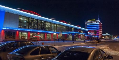 Будет красиво. На железнодорожном вокзале Челябинска появилась новая подсветка